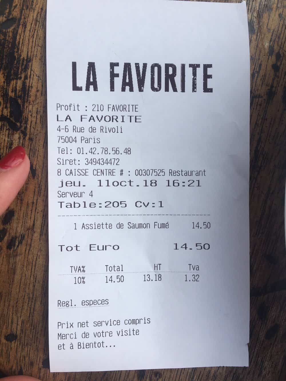 la favorite lunch with everyday parisian
