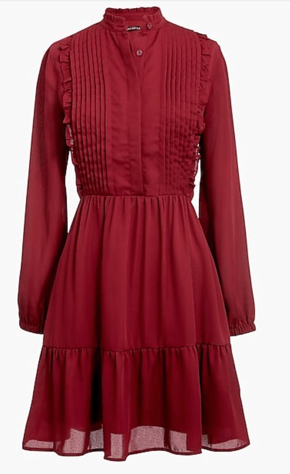burgundy dress jcrew under $50