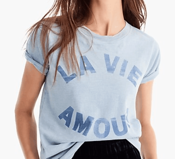 the vie amour tshirt from jcrew