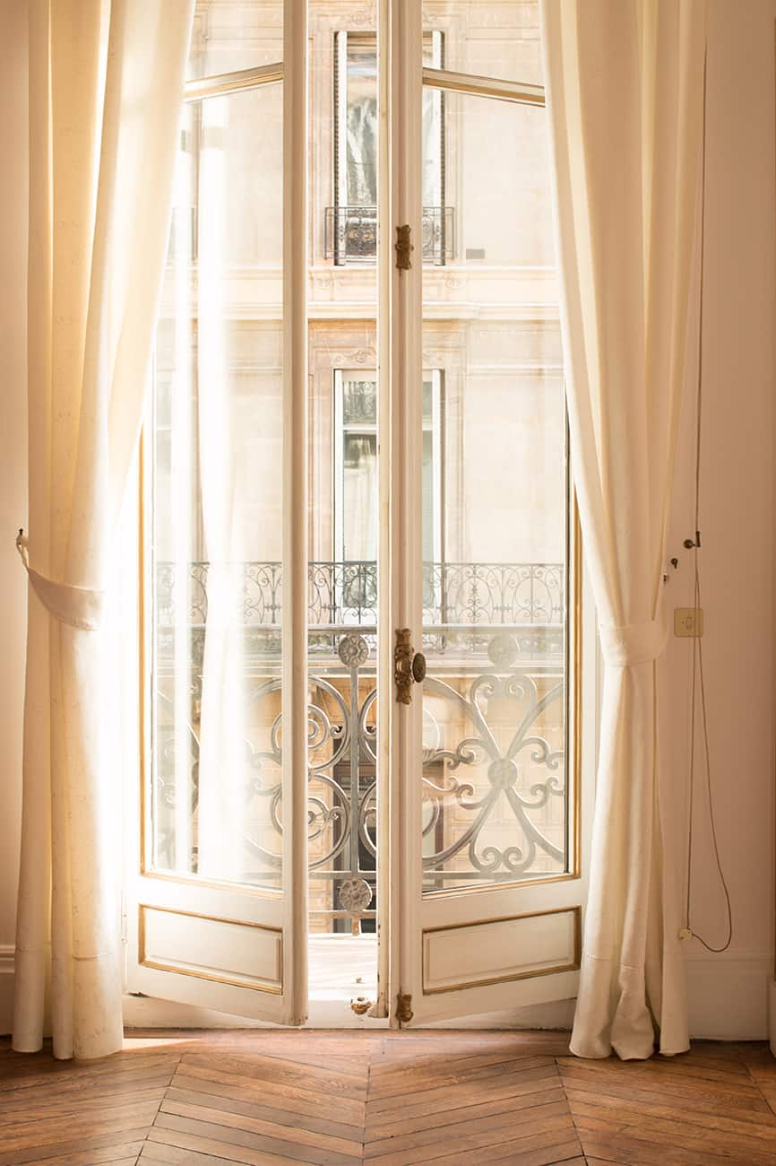 afternoon light in the Paris apartment