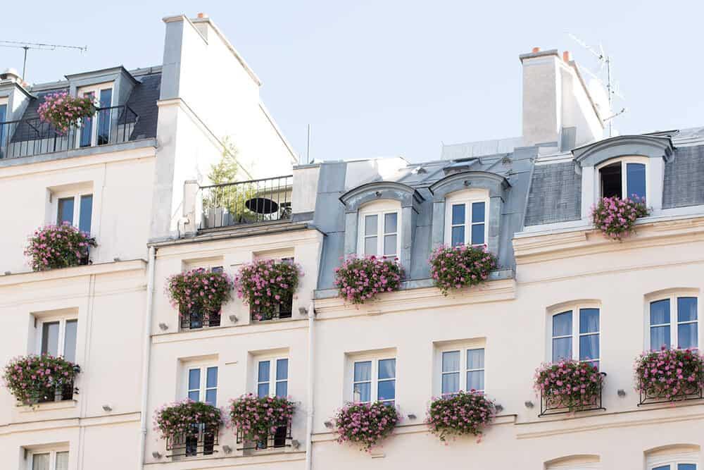 Shop St Germain de Prés Floral Balcony Print Here