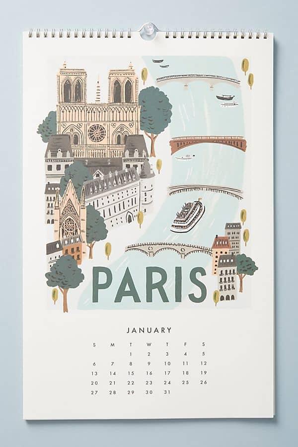 paris calendar rifle paper co