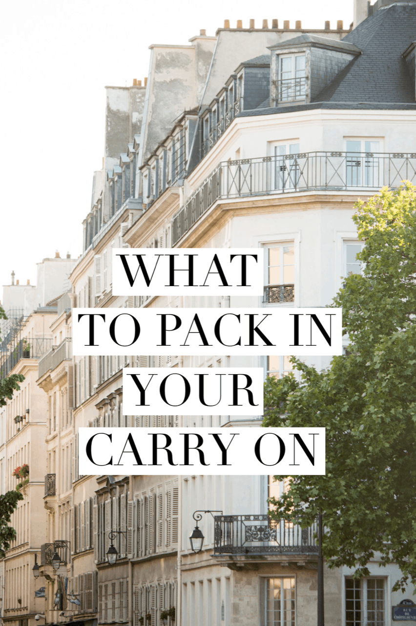 travel essentials for long flights by everyday parisian
