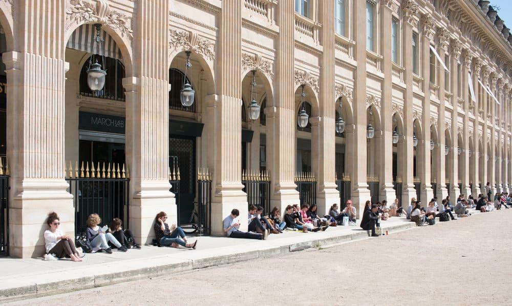 palais royal paris france spring