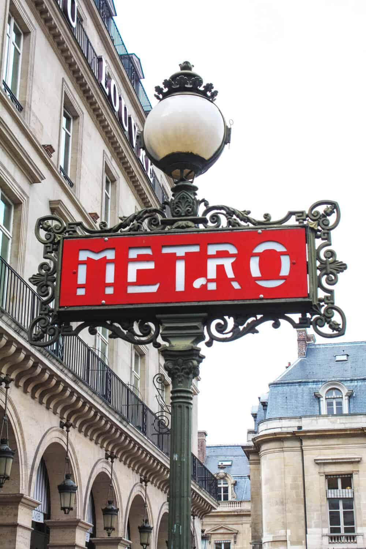 Shop Paris Metro at The Louvre Print Here