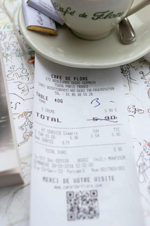 cafe de flore paris france