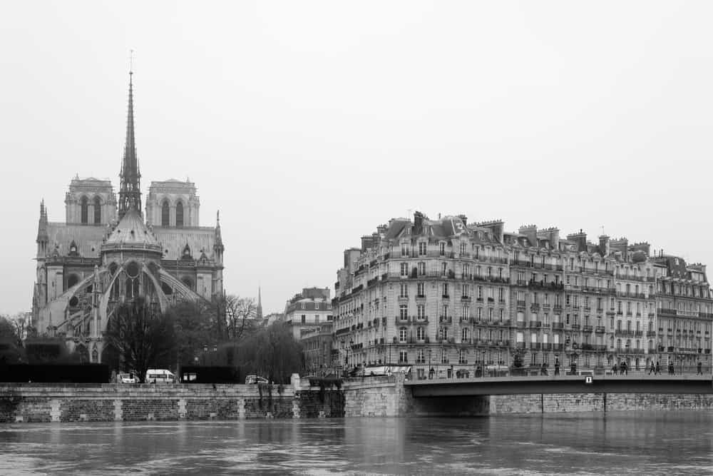 paris france black and white