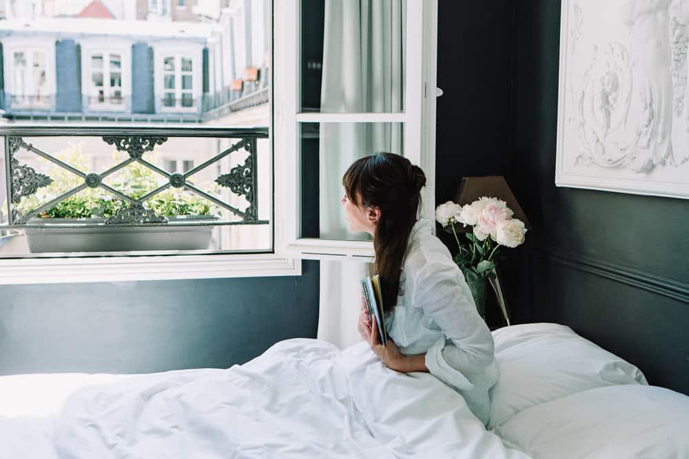 carolina caruso photograph of rebecca plotnick in paris apartment
