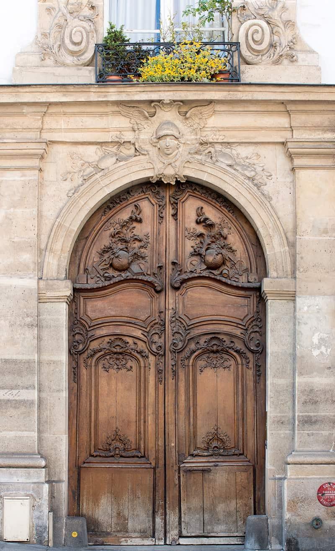 paris brown door on the left bank by Rebecca Plotnick