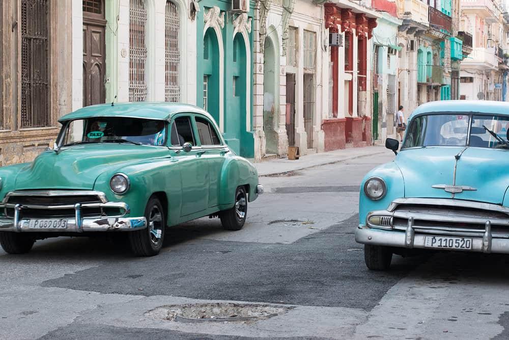 taxi in old havana cuba by rebecca plotnick