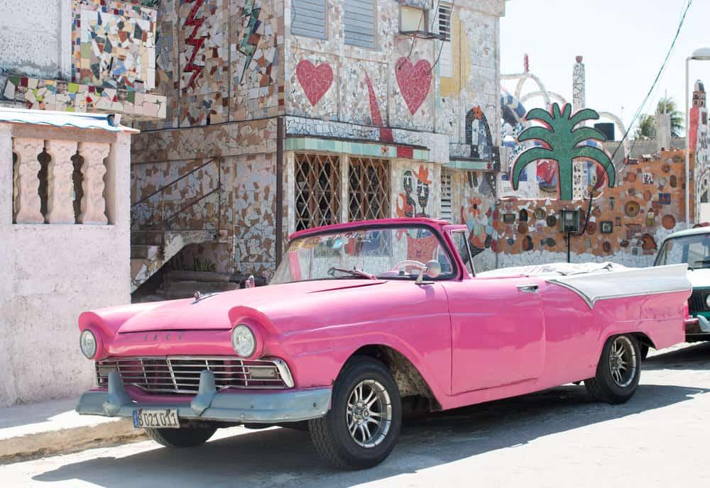 pink car in fusterlandia havana cuba the ultimate havana travel guide