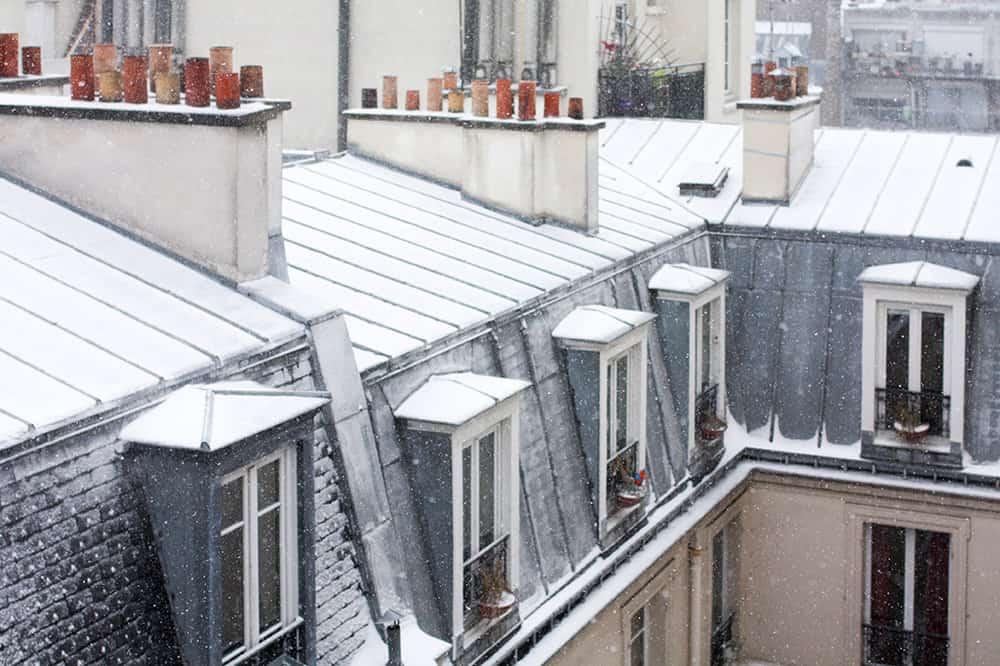 My Paris apartment in the Snow