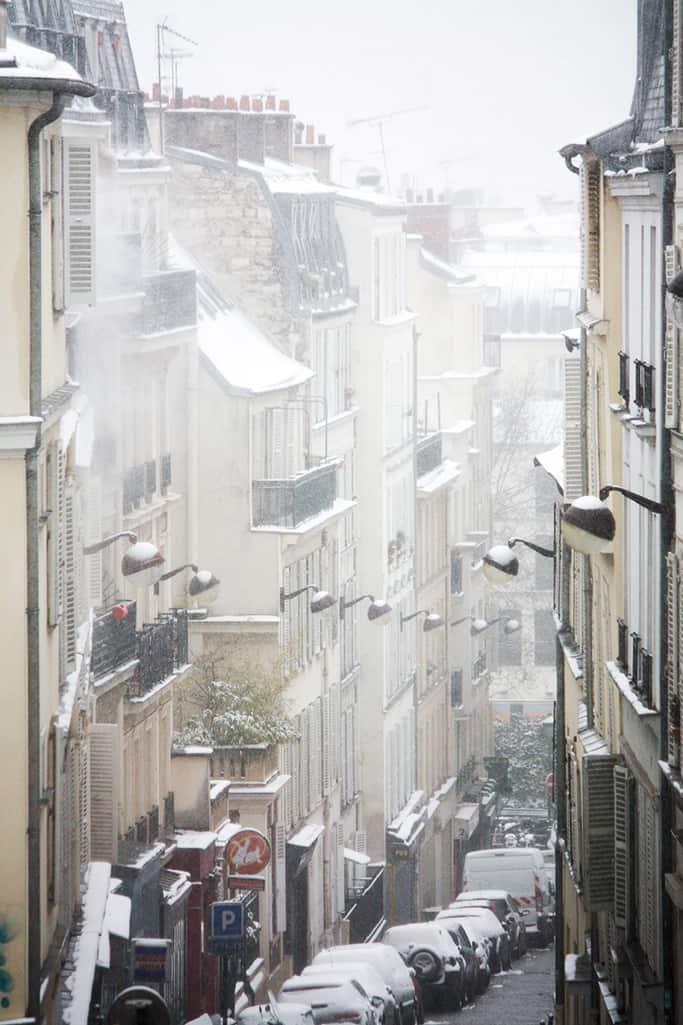 paris in the snow @rebeccaplotnick