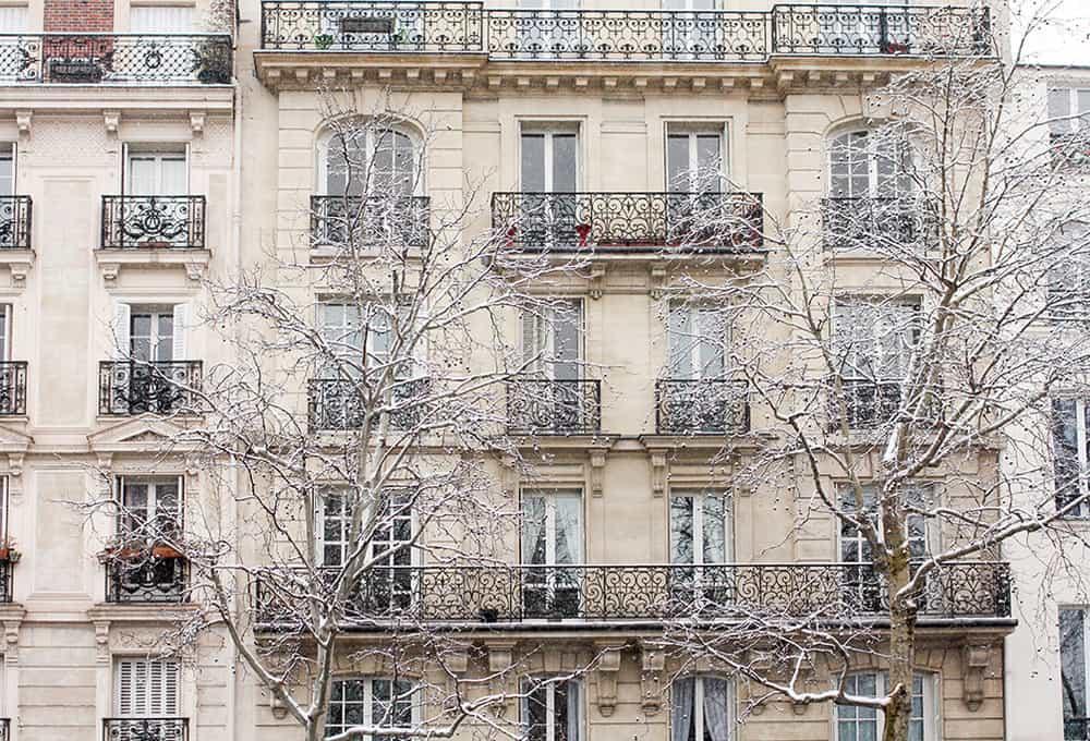 paris apartments in the snow @rebeccaplotnick