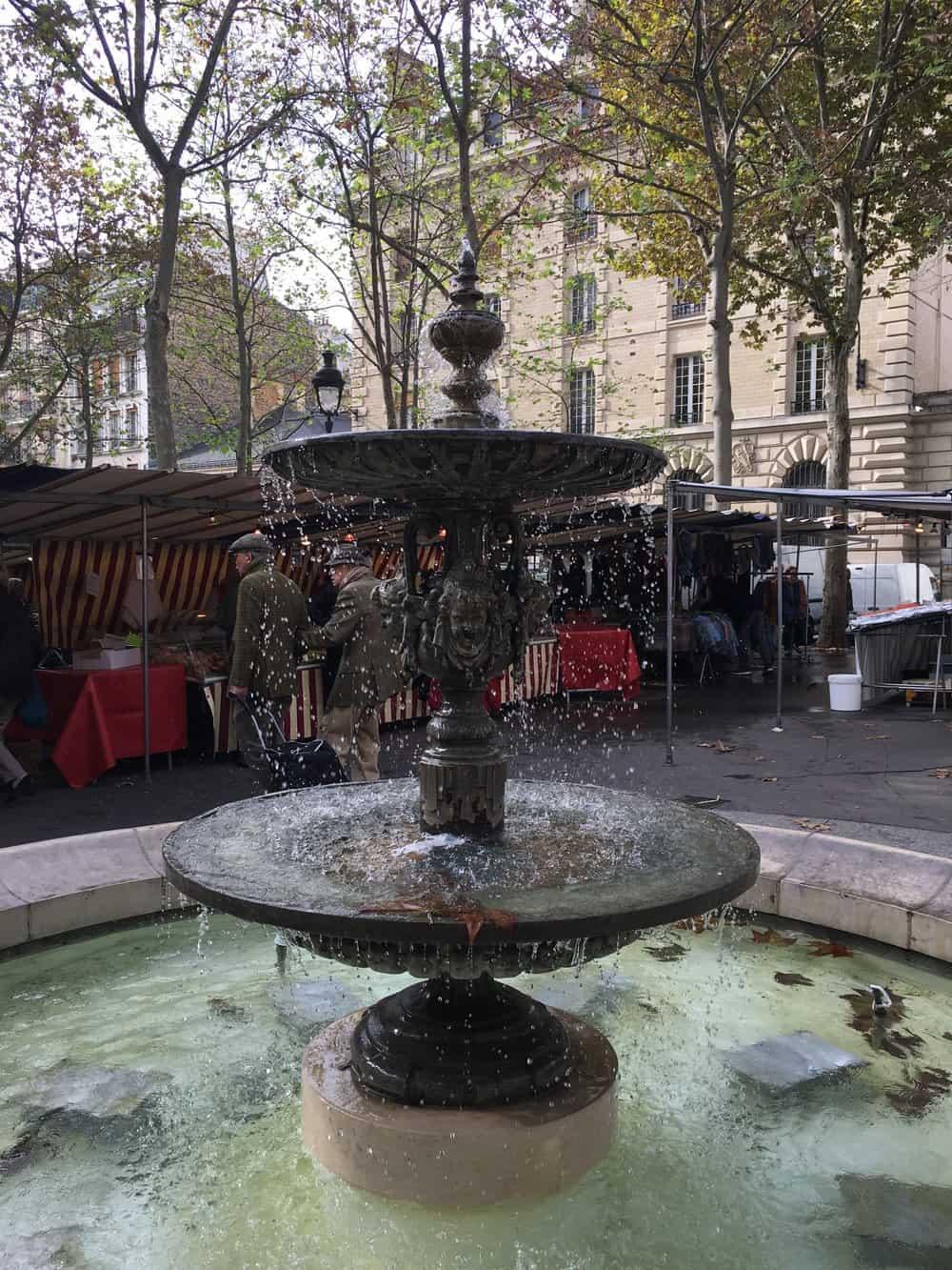 place monge market square paris, france
