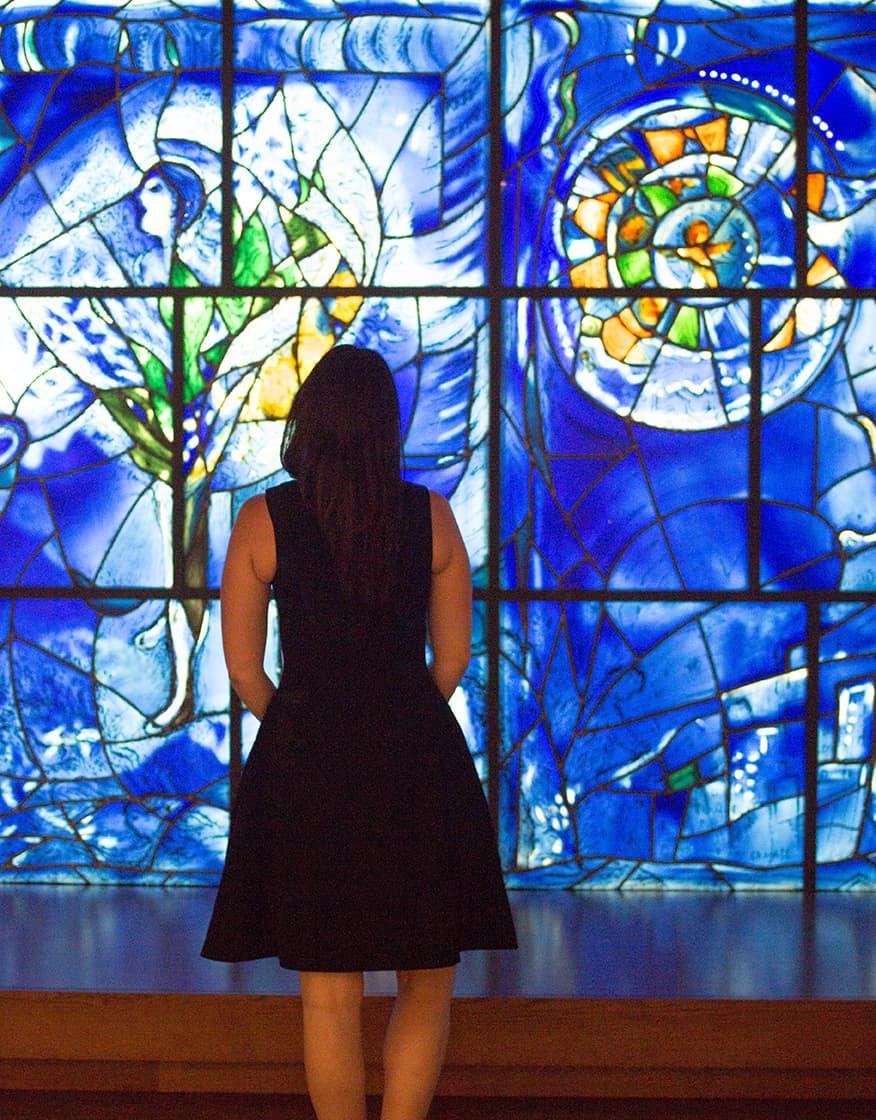 Chicago Art Institute Chagal Windows @rebeccaplotnick
