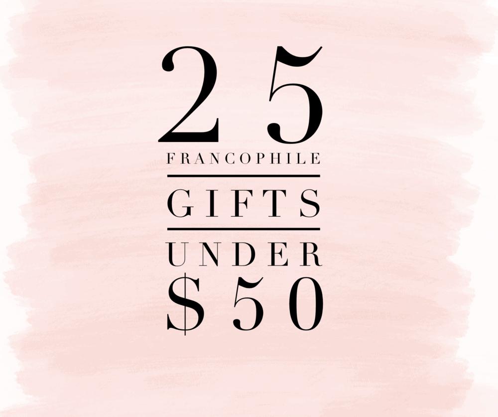 francophile gifts under $50