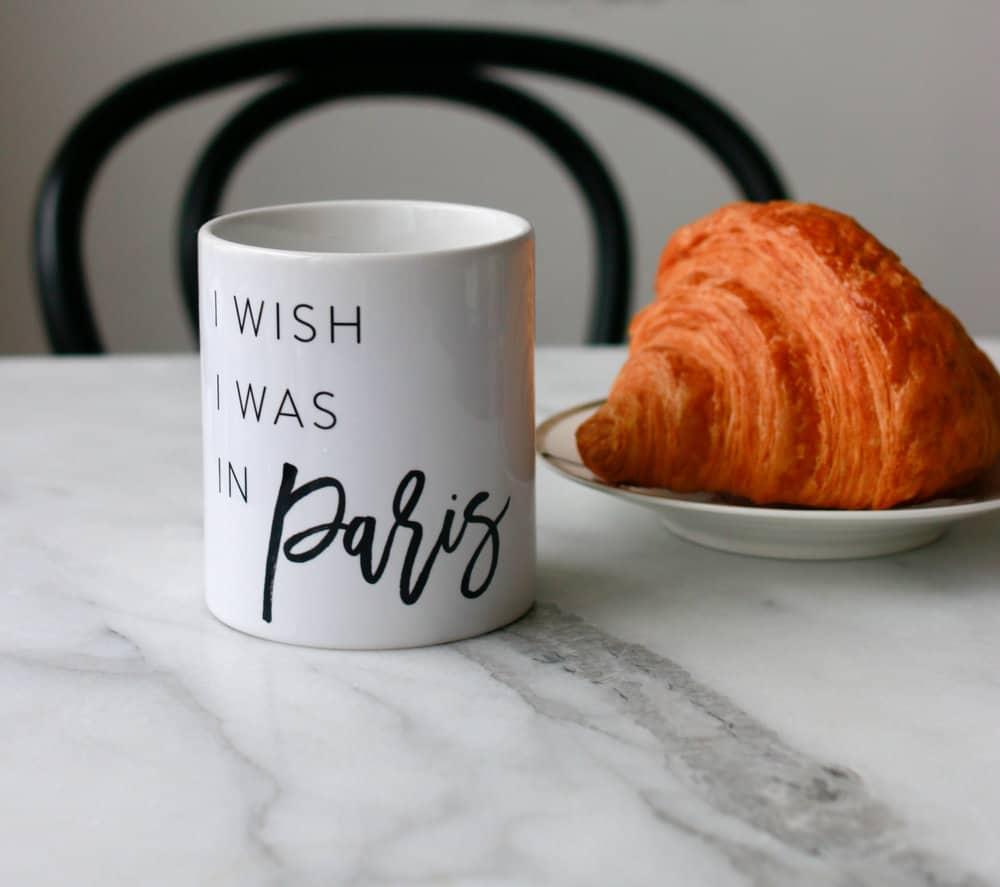 I wish I was in Paris Mug