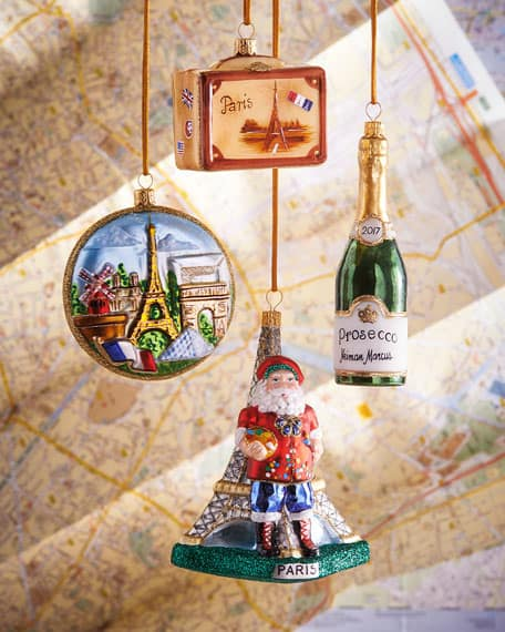 paris christmas ornaments set of 4 from Neiman Marcus