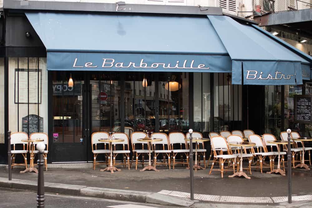 barbouille paris cafe in the marais