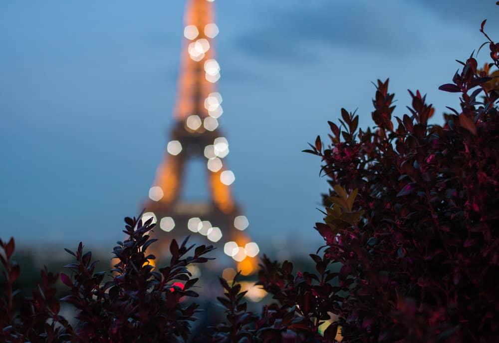eiffel tower sparkle paris france