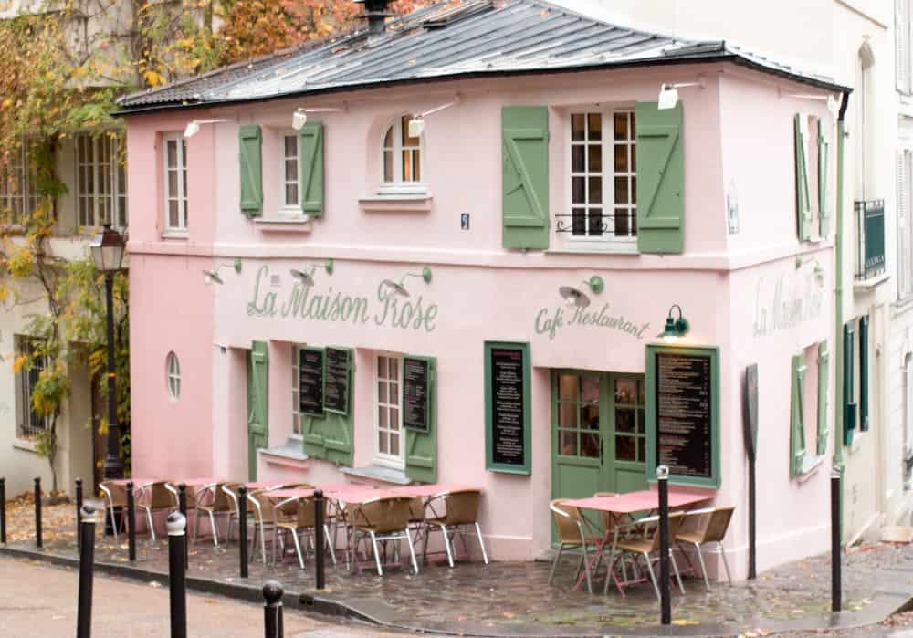 paris la maison rose photograph