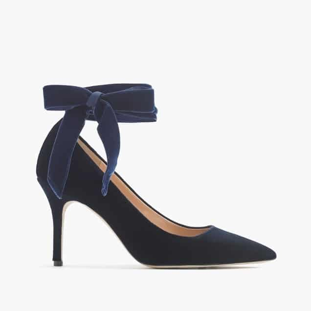 Velvet Pumps from J Crew   I love these in both colors! Red and Blue