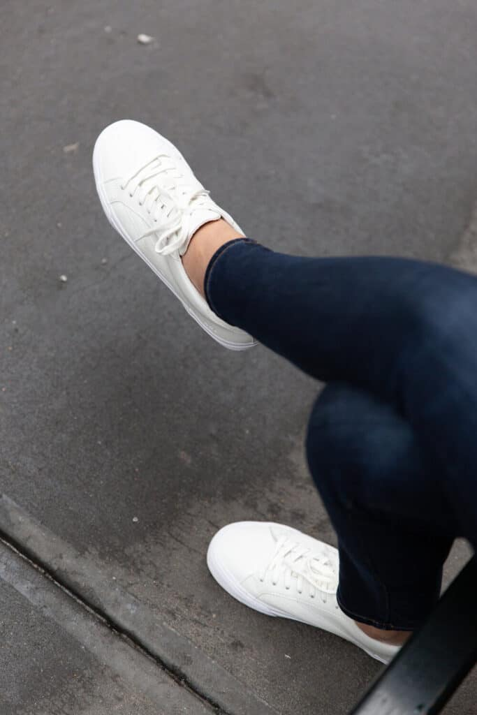 pack sneakers for your trip to Paris for fall