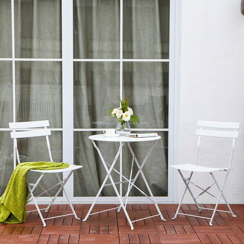 frenchify your outdoor space bistro set everyday parisian