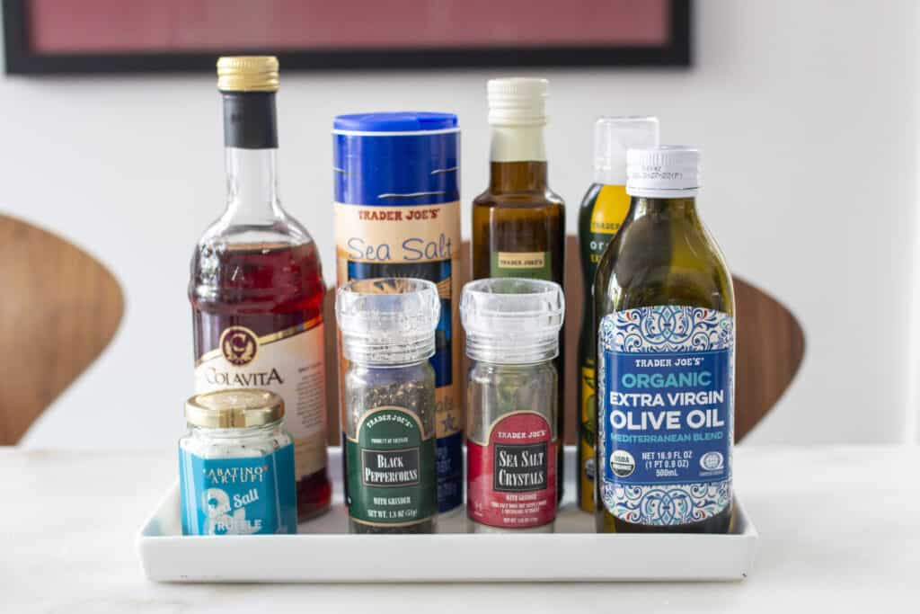 oils and vinegars on a counter