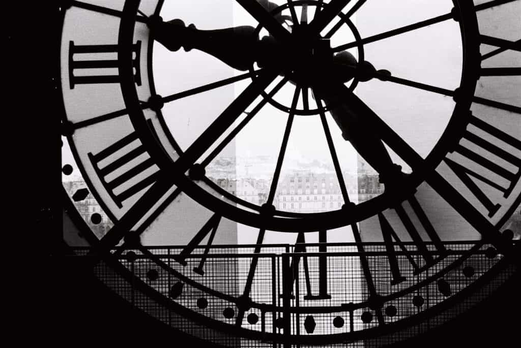 a view from the inside of the big ben