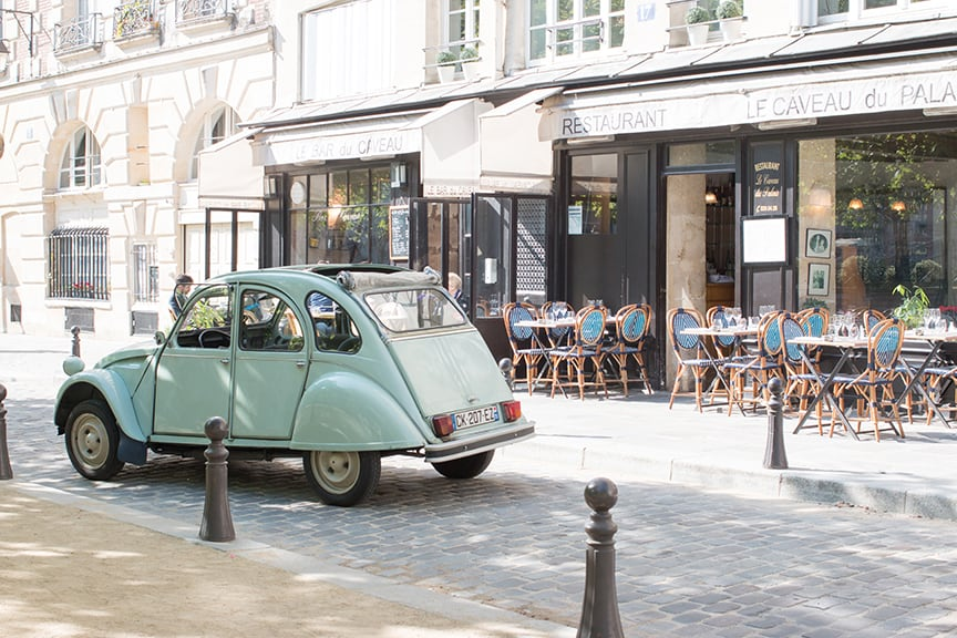 a car outside a cafe in paris for Links I Love Week 23