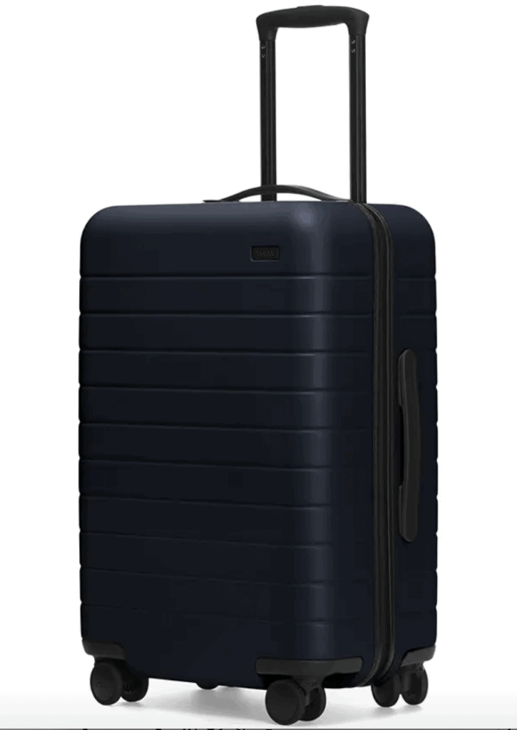 suitcase in blue
