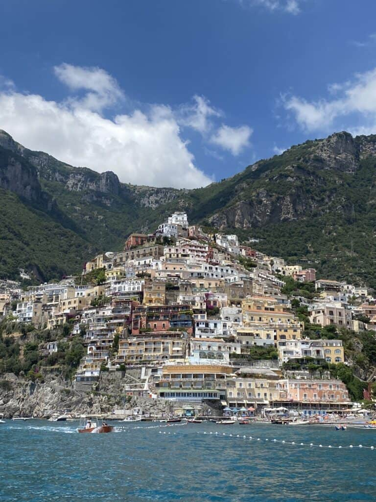 view of the Blue Star Positano