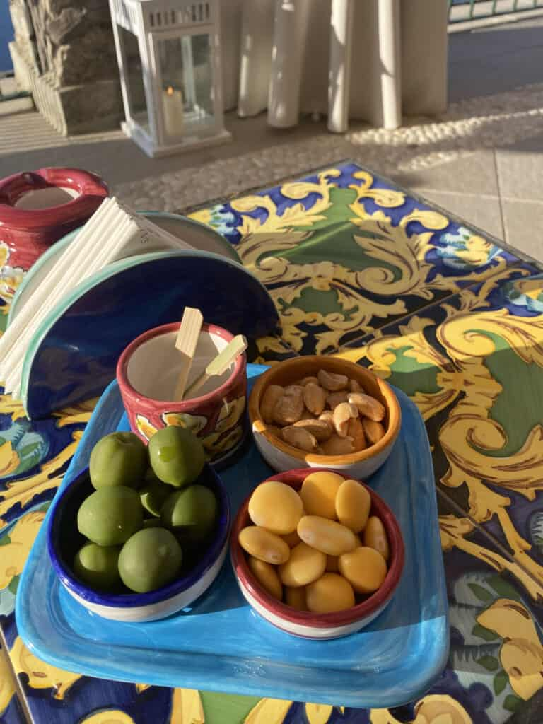 fruits and nuts on a table
