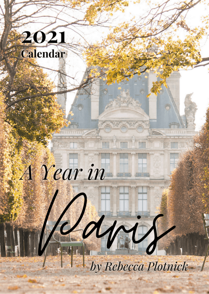 calendar sharing 5 Years of Blogging with castle on the background and text