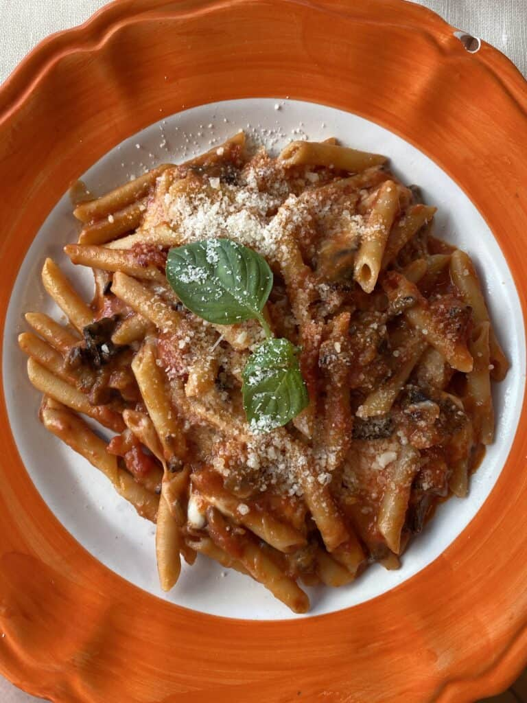 pasta on a plate
