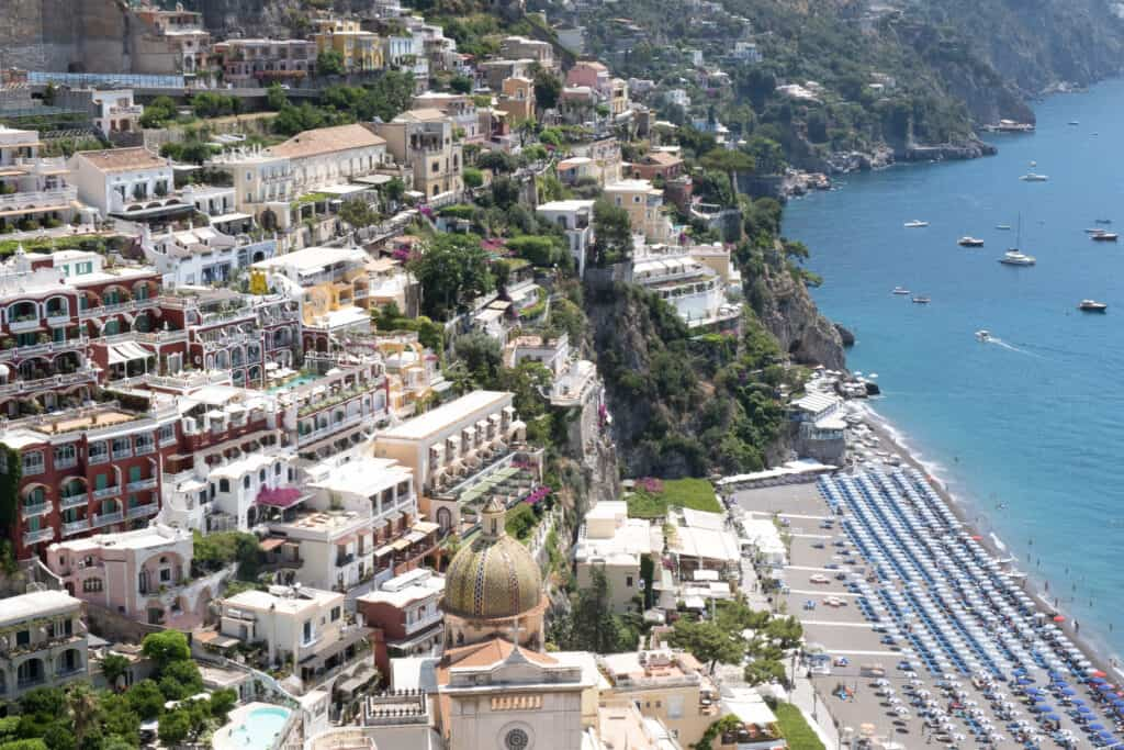 building and ocean view of Amalfi Coast Guide