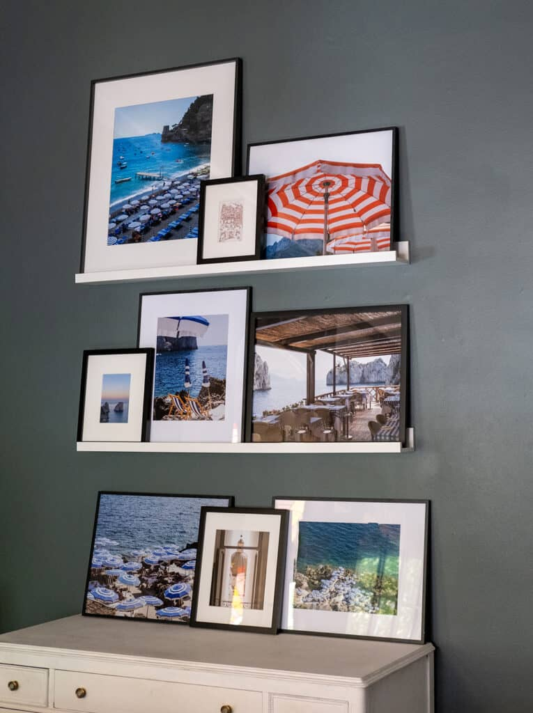 Gallery Wall with framed photos