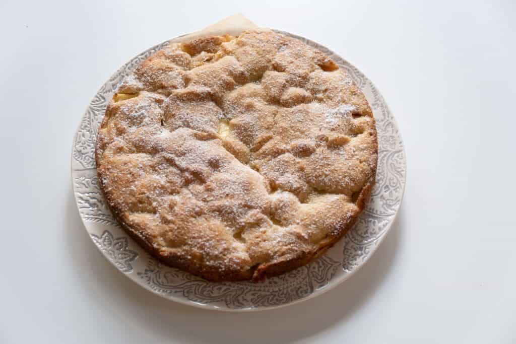top view of French Apple Cake