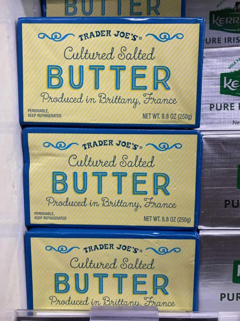 stack of cultured salted butter